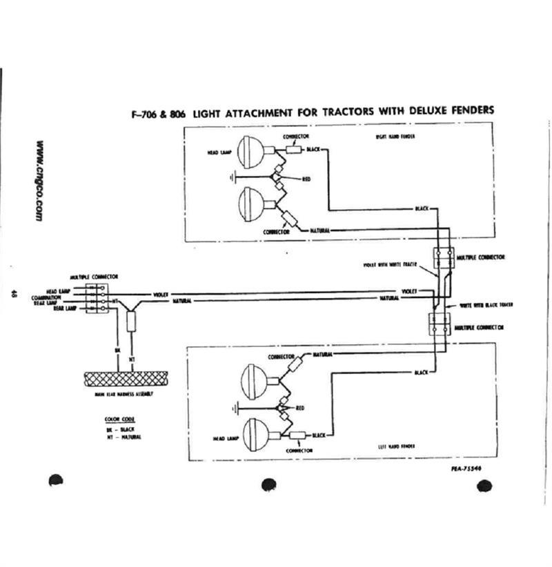 Ihs3543 Farmall 706  U0026 806 Gas Restoration Quality Wiring Harness