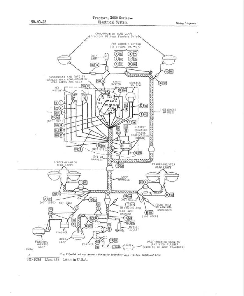 JDS3603 John Deere 4020 Diesel Restoration Quality Wiring HarnessKuhn's Tractor Parts