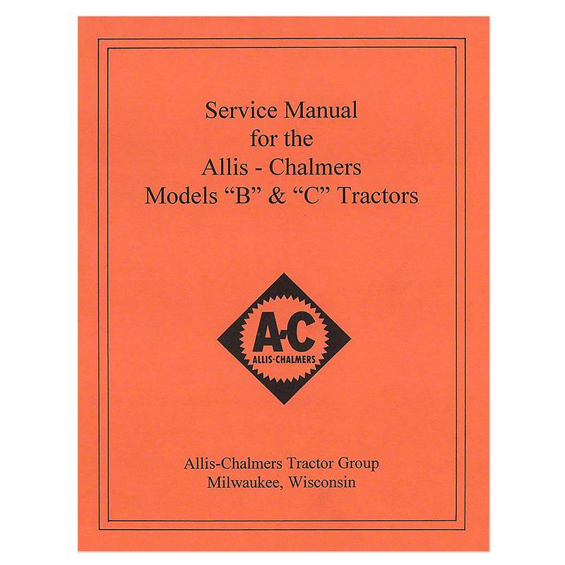 rep036 allis chalmers b c service manual reprint