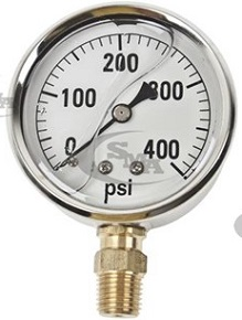 GG400 Pressure Gauge for Hydraulic Testing 400 lbs
