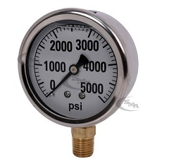 GG5000 Pressure Gauge for Hydraulic Testing 5000 lbs.