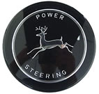 JDS340 Black Power Steering Wheel Cap