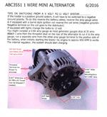 ABC3551 Mini 35 Amp 12 Volt Negative Ground Alternator Inst.