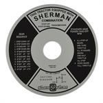 FDS163 Sherman Transmission Instruction Plate