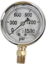 GG1500 Pressure Gauge for Hydraulic Testing 1500 lbs