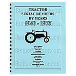 REP072 Tractor Serial Numbers (1940-1975)
